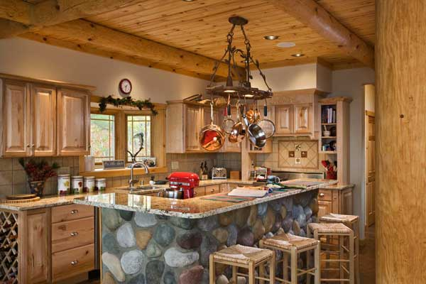 Counter top for log cabin kitchen home design and decor for Kitchen ideas for log homes