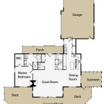 Naturally Appealing Log Cabin Main Floor Plan