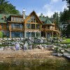 Michigan log home landscaping