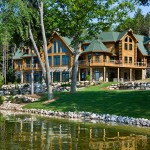 Michigan log home lake front