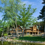 Michigan log home lake side