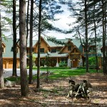Michigan log home setting