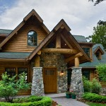 Michigan log home entry