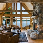 Michigan log home view