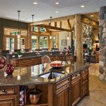 Michigan log home kitchen sink
