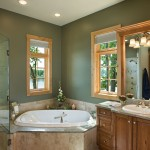 Michigan log home master bath
