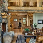Michigan log home great room