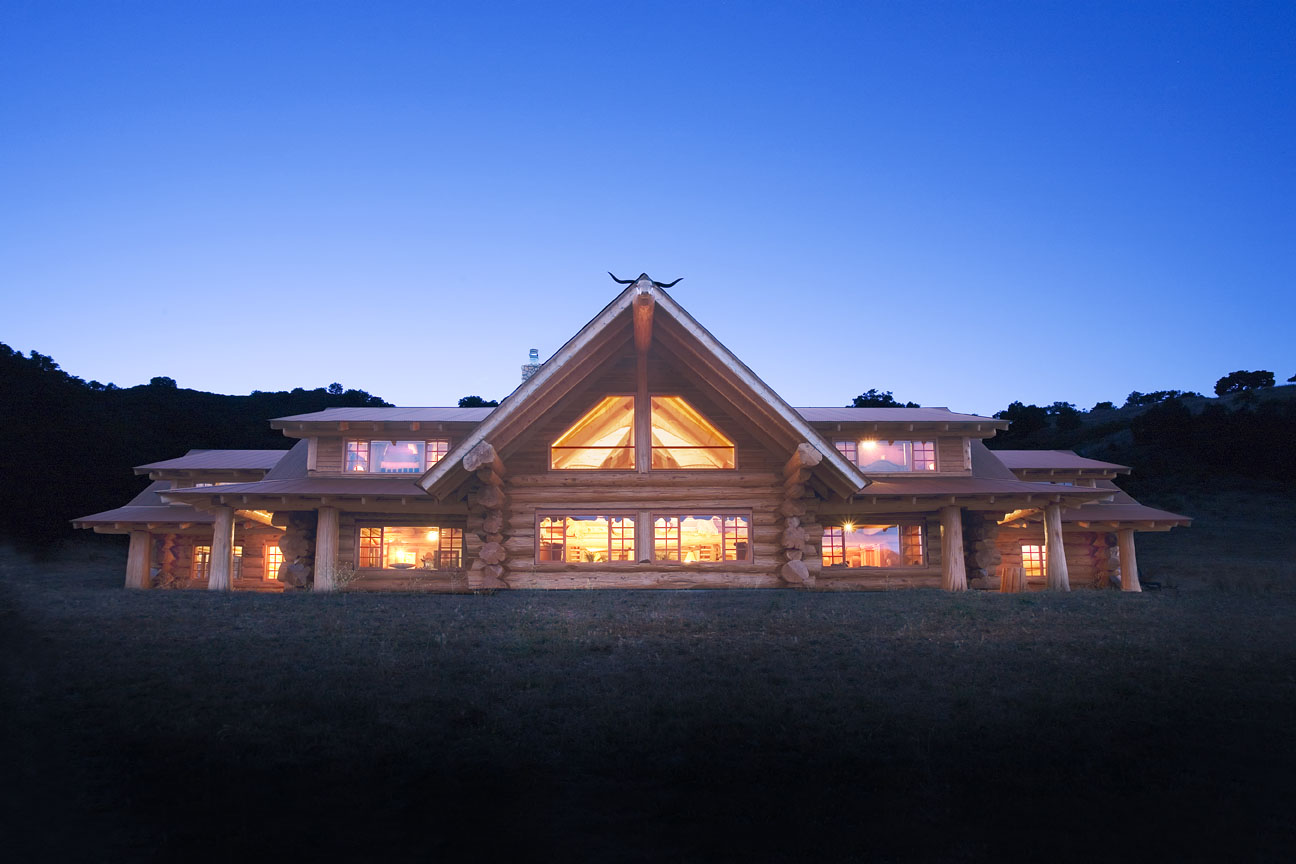 California dreaming a handcrafted log home built to last for Large luxury log homes