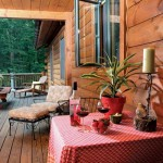 "On the cabin's open-air porch, there's plenty of room for everyone to grill, mingle and take in the treetop views. ""People would rather be outside than inside,"" says Debbie."