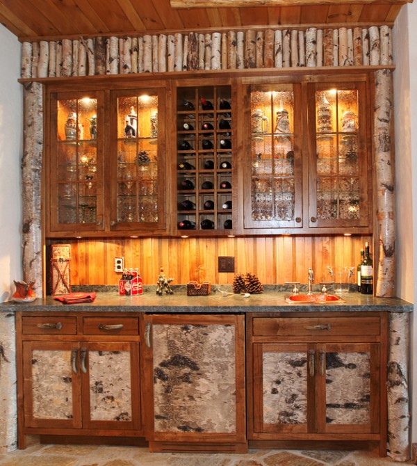 Pete Swita created this wet bar.