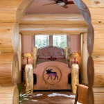 It's all in the details at the Lovolds' log home. With items like this bedroom's moose cutout footboard, there's no shortage of unique flavor.