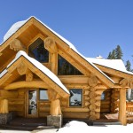 Many of the Western cedar logs were selected, peeled and scribed by hand to build the 3,800-square-foot home.
