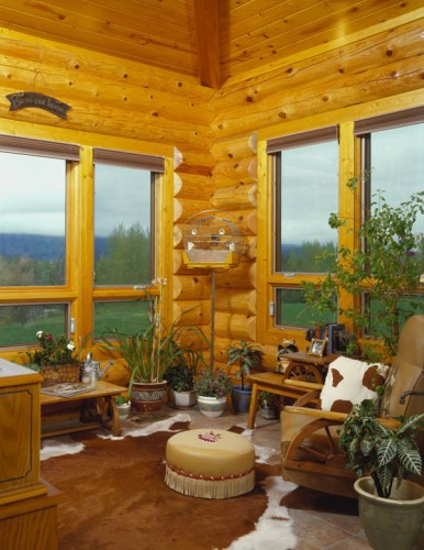 Page not found log home living for Log cabin window treatments