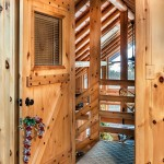 Each of the wood doors throughout the cabin is kiln-dried, laminated white pine.