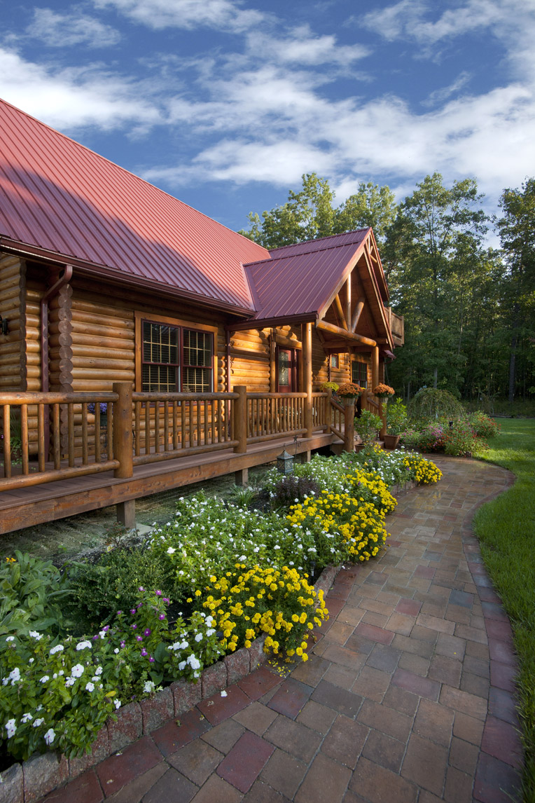 Log cabin construction joy studio design gallery best for Log cabin porch