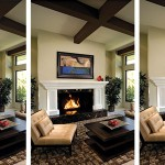 "Plan ahead for over-the-mantel placement. ""Pre-wiring the fireplace during construction will save you costly changes down the road,"" says interior designer Cindy Trimble Kelly. Credit: VisionArt photo"