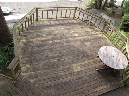 Log Home Deck Care Before