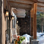 A sunny front porch can be comfortable even in winter with the right solar exposure.