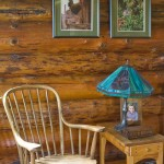 "Nearly all of the furniture in the cabin was built using old-fashioned hand tools. ""I didn't know anything about building when we started,"" Tim says. ""So learning how to build our furniture and the kitchen cupboards was quite a learning experience."""