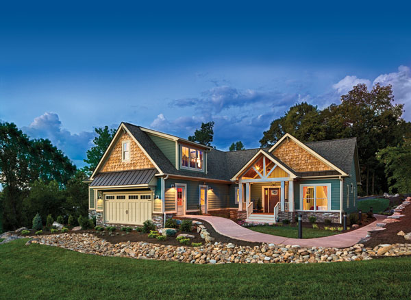 Versatility is crucial for today's cabin owner, and there are a plethora of options on the marketplace. From colored exteriors to rustic accoutrements, the sky is the limit. Credit: Schumacher Homes photo