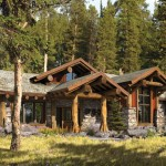 Today's cabin does not have to adhere to one specific construction style; rather, it can incorporate a variety of styles to create a natural, casual appearance. Credit: PrecisionCraft Log & Timber Homes photo
