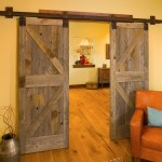 A set of barn doors closes off the sitting area leading between the common areas and the master bedroom. The homeowners count it among their favorite spots in the home.