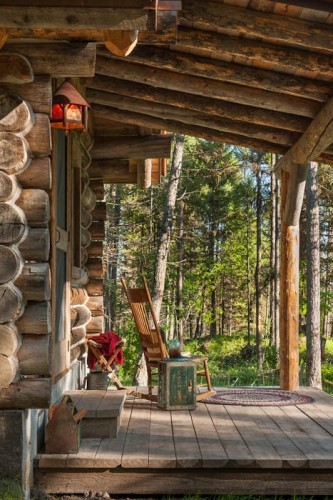 The cabin's original logs, dating back to the early 1900s, have lived through more than a century on Montana's rough and rugged terrain. Their beauty and strength are a testament to the lasting power of a well-built cabin.