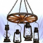 24-inch Hub Wagon Wheel Chandelier