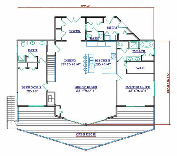 Strange 4 Bedroom Craftsman Home Plan Homepw16733 Cottage Home Plans At Largest Home Design Picture Inspirations Pitcheantrous